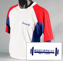 White & Royal Blue T-Shirt