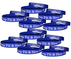 BodyBreak + Keep Fit & Have Fun Wristband (10 Pack)