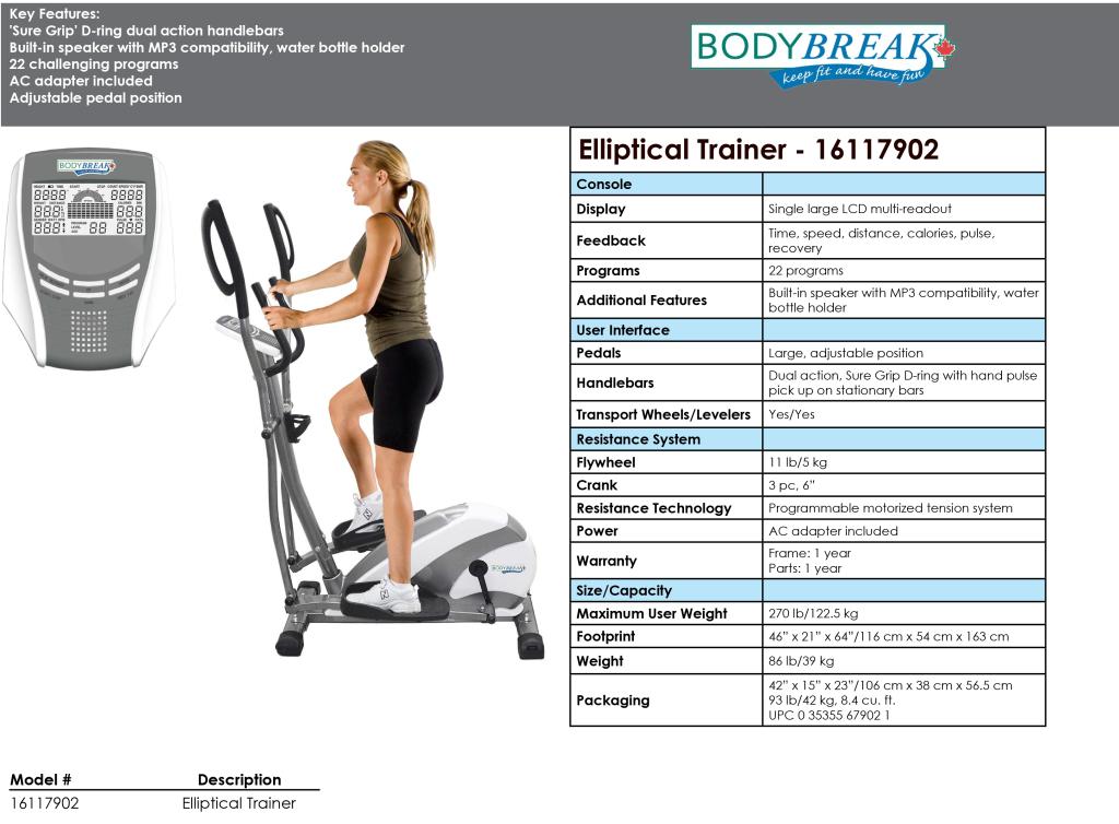 Elliptical Trainer  - 16117902